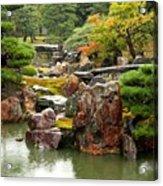 Rain On Kyoto Garden Acrylic Print