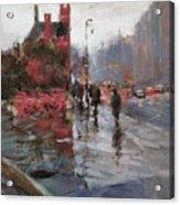 Rain On Sixth Avenue Acrylic Print
