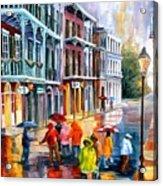 Rain On St. Peter Street Acrylic Print