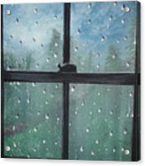 Rain On The Window Acrylic Print