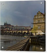 Rain Over Prague Acrylic Print