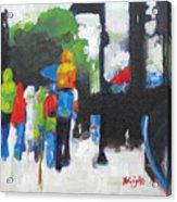 Rain People Acrylic Print