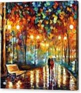 Rain Rustle Acrylic Print