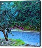 Rain Storm On Lake Linda Acrylic Print