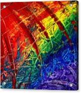 Rainbow Abstract Acrylic Print