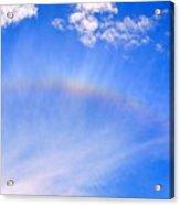 Rainbow Against A Beautiful Sky Acrylic Print