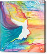 Rainbow Angel Acrylic Print