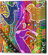 Rainbow Animals Yoga Mat Acrylic Print