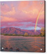 Rainbow At Sunset Acrylic Print