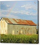 Rainbow Barn Acrylic Print
