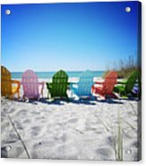 Rainbow Beach Vanilla Pop Acrylic Print