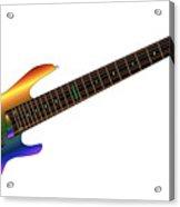 Rainbow Big Neck Bass Guitar Acrylic Print