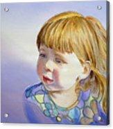 Rainbow Breeze Girl Portrait Acrylic Print