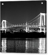 Rainbow Bridge At Night Acrylic Print by Xkhol