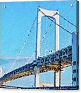 Rainbow Bridge In Tokyo Acrylic Print