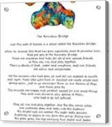 Rainbow Bridge Poem With Colorful Paw Print By Sharon Cummings Acrylic Print