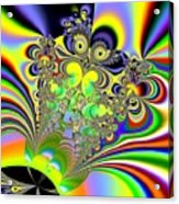 Rainbow Butterfly Bouquet Fractal Abstract Acrylic Print