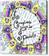 Rainbow Care Acrylic Print