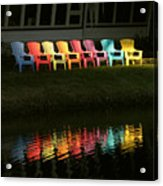 Rainbow Chairs  Acrylic Print