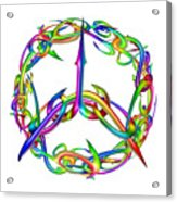 Rainbow Circle Acrylic Print