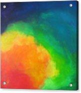 Rainbow Clouds Acrylic Print