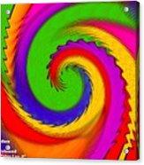 Rainbow Coloured Cock Swirl H A Acrylic Print