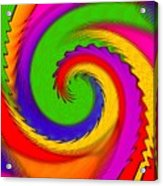 Rainbow Coloured Cock Swirl H B Acrylic Print