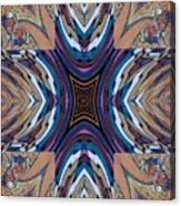Rainbow Cross Acrylic Print by Ricky Kendall