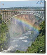 Rainbow Crossing Gorge Beneath Victoria Falls Bridge Acrylic Print