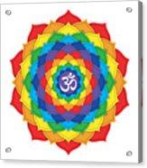 Rainbow - Crown Chakra  Acrylic Print by David Weingaertner