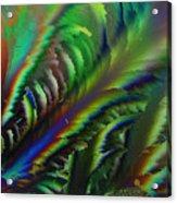 Rainbow Crystals Acrylic Print