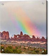 Rainbow Down Acrylic Print