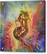 Rainbow Dragon Acrylic Print