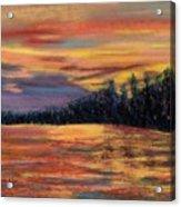 Rainbow Evening Acrylic Print