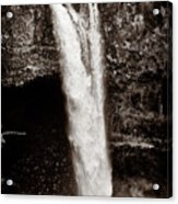 Rainbow Falls 2 - Sepia Acrylic Print