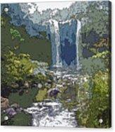 Rainbow Falls Green Acrylic Print