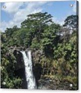 Rainbow Falls Hawaii Acrylic Print