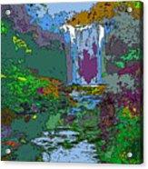 Rainbow Falls Purple Acrylic Print