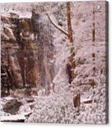 Rainbow Falls Smoky Mountain National Park -- Painted Photo. Acrylic Print by Christopher Gaston