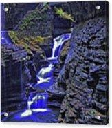 Rainbow Falls Watkins Glen State Park Acrylic Print