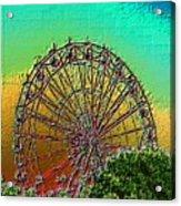 Rainbow Ferris Wheel Acrylic Print