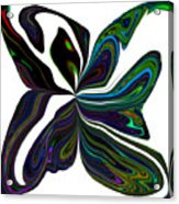 Rainbow Firefly Abstract Acrylic Print