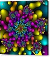 Rainbow Fireworks Fractal Acrylic Print