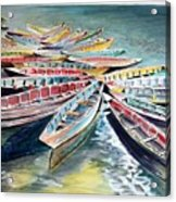Rainbow Flotilla Acrylic Print