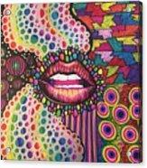 Rainbow Garden Acrylic Print