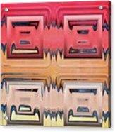Rainbow Glass Acrylic Print