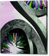 Rainbow Glass Magic Acrylic Print