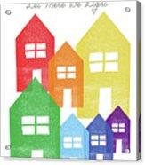 Rainbow Holiday- Art By Linda Woods Acrylic Print