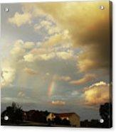 Rainbow House Acrylic Print
