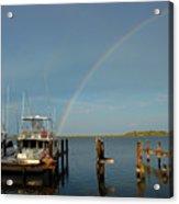 Rainbow In Apalachicola Fl Acrylic Print